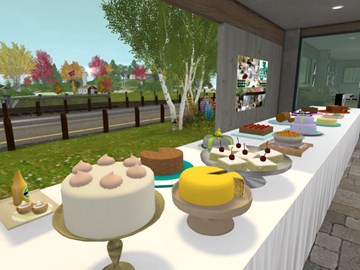 Cake Against Cancer in a Virtual World