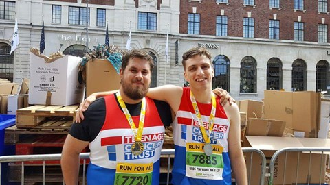 Myself and Ben after last years 10K