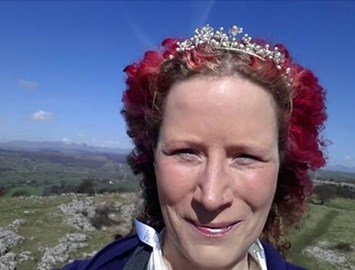 Did it! Me in a tiara on Hampsfell!