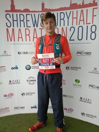 Before the Shrewsbury half marathon