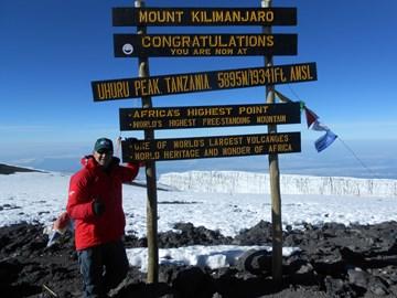 Urhuru Peak, Mt Kilimanjaro, 5895 Metres 25/6/2015