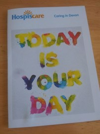 Encouraging card from Hospiscare for tomorrow!