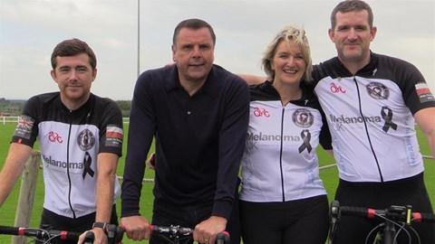 Team Claire with Everton Legend Graeme Sharp