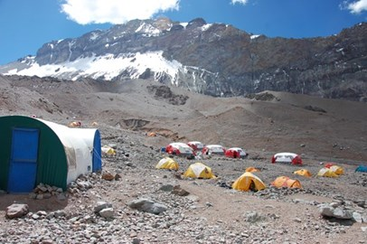 Aconcagua Base camp 13,800ft