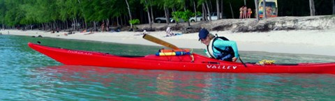 Starting out in a NordKapp Valley kayak