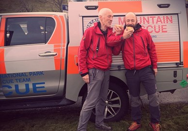 We've done many things in Mountain Rescue but never a pie photo shoot. Thanks for the trial pies from the New Zealand Pie Company.