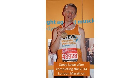 Steve after finishing the London Marathon
