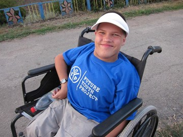 At the Institute for people with special needs in Ukraine.