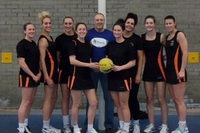 Grangetown's premier league netball team - and me!