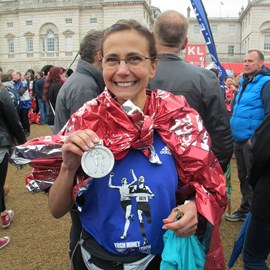 With my winners medal and top.  Job done!