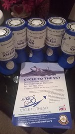 Cycle To the Sky Donation buckets which can be found at Sentry Post, RAF Scampton and A&C Cycles