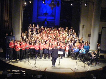 Massed Finales Choirs at one of last year's Crocus Concerts