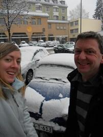 The Zastava covered in Austrian snow!