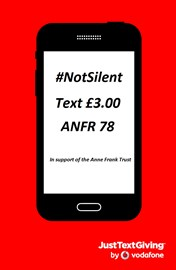 Donate just £3.00 by text and support the Anne Frank Trust!