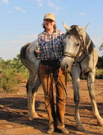 Sophie Neville riding for The Waterberg Trust