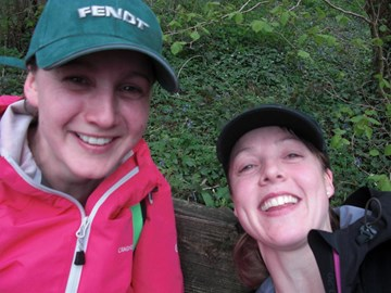 Still smiling despite a tough 20km walk!