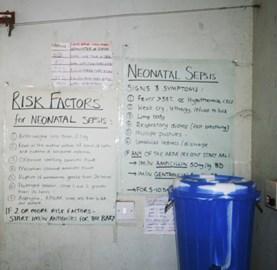 Neonatal sepsis risk chart
