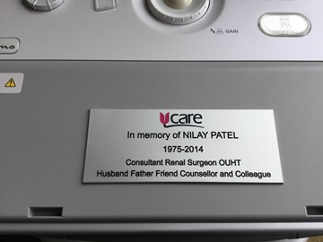 The dedication made September 2016 on Scanner