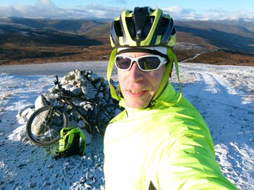 Winter training on muntain bike