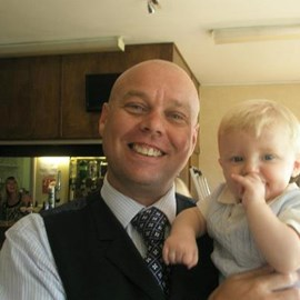 Neil with his godson
