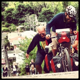 Cycling the world's steepest street