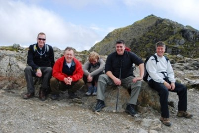 A well earned rest - Snowdon May 2009