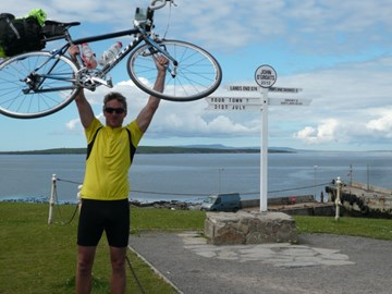 Success- Mr Nicholls at John O'Groats