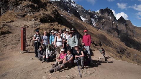 The group at 'Dead Womans Pass'