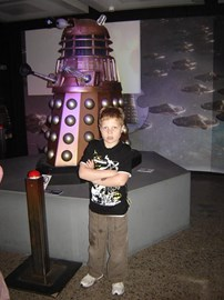 Andrew with a Dalek