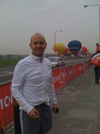 At the start of the London Marathon