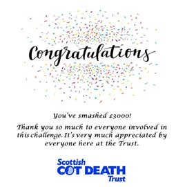 Thank you from the Scottish Cot Death Trust