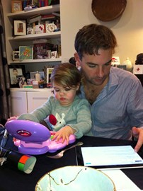 Evie with Daddy