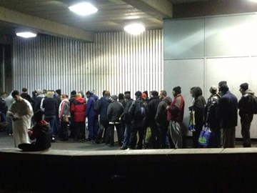 MashaALLAH(SWT) the queue for food