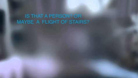 IS THAT A PERSON? OR MAYBE A FLIGHT OF STAIRS?