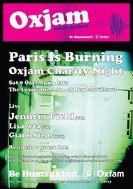 Paris Is Burning 8 / Oxjam @ Lexington