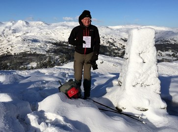 The first summit - Loughrigg - a bit cold!