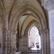 Water damage inside the Abbey.