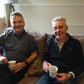 Alan and Bruce catching up with Harmeny about the plans!