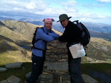 dad and i on top of the old man of coniston