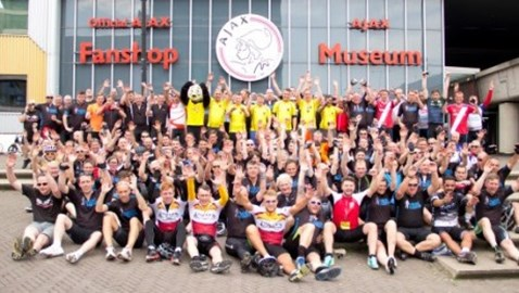 2014 London to Amsterdam challenge - finish line