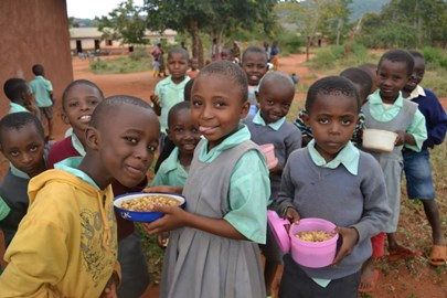 Lunchtime at Kiteghe Primary