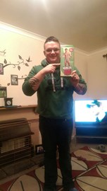 First to sponsor me my best mate Rich with the condition I do it in a mankini! £100 and it's a deal!