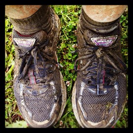 After a rather muddy run....