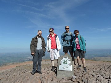 At the top of Pen Y Fan