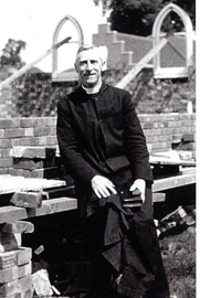 Fr Redding during construction