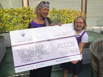 Yesterday I went to the hospital to present them with a MASSIVE cheque!