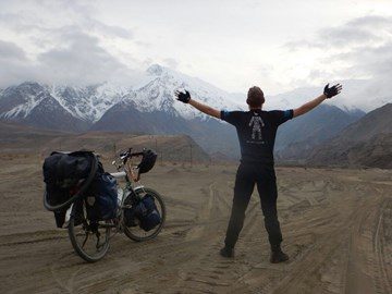 Laurence in the Pamir Mountains