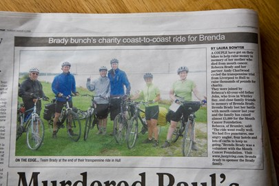 We were in the Yorkshire Evening Post!