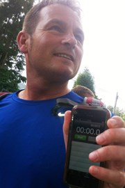 Paul with the official stopwatch