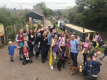 Team Amy's 2017 fundraising walk from Bradford on Avon to Bath